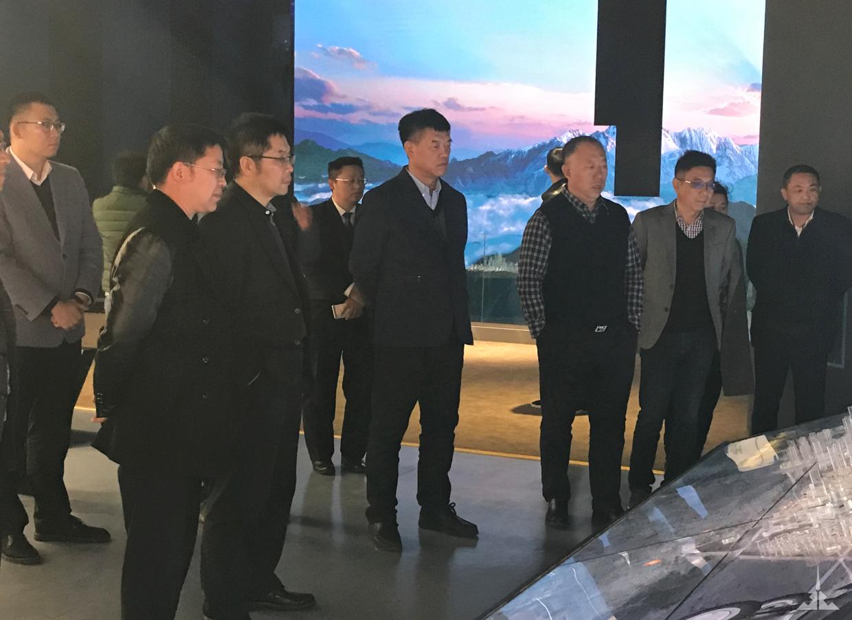 董勒成董事长参观昆明巫家坝城市新中心展厅