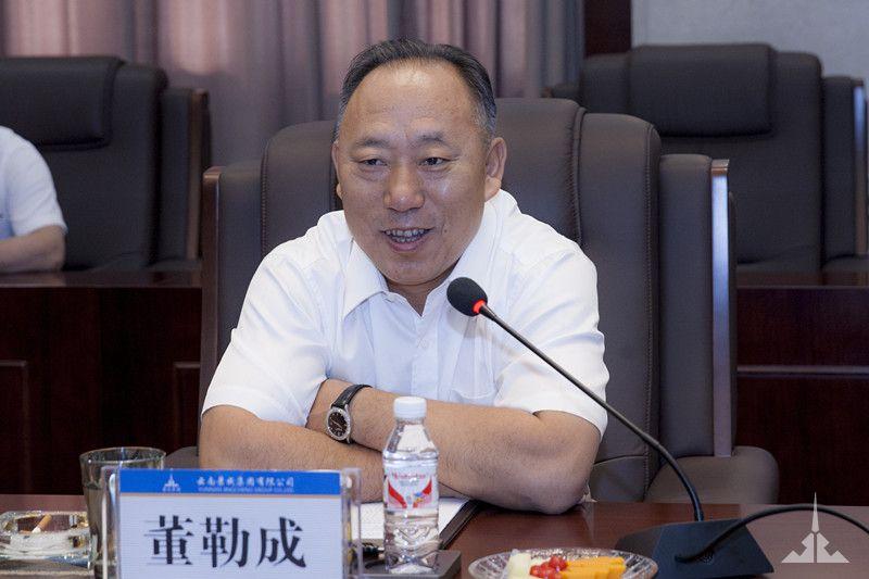 董勒成董事长与中建二局总助丁威座谈